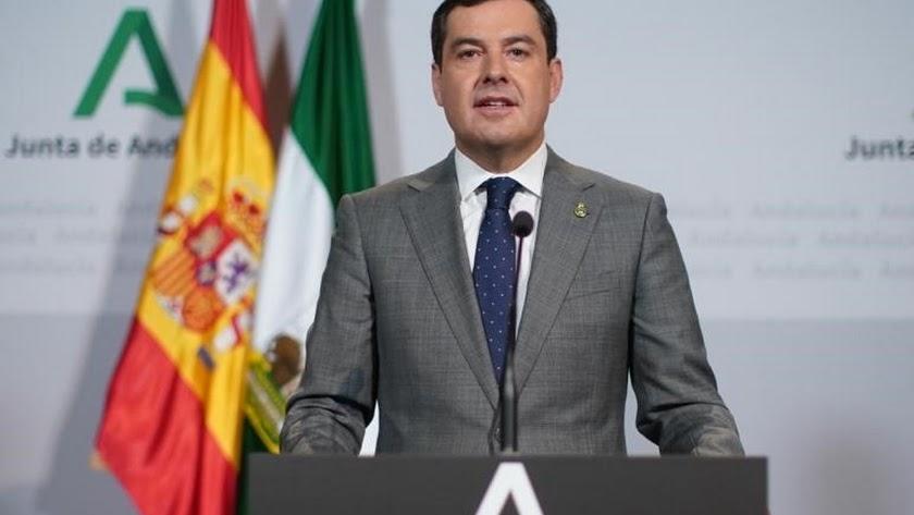 Juanma Moreno, presidente de la Junta de Andaucía.