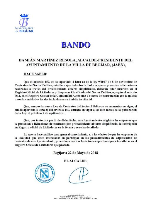 Bando presentacion licitaciones empresas