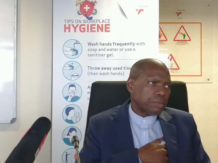 Health minister Dr Zweli Mkhize briefs media at the Durban port on Tuesday afternoon. He announced that the number of Covid-19 cases in SA has risen to 1,353.