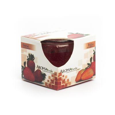 vela gel aroma fresa