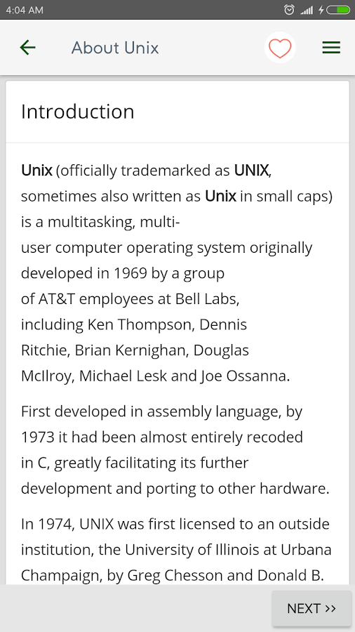 Reference for Unix & Linux- screenshot