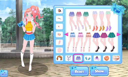 Cheerleader dress up game - náhled