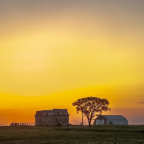 The Old Stone House by Garnie Ross - Landscapes Sunsets & Sunrises