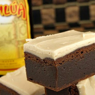 Kahlua Brownies with Brown Butter Kahlua Icing Recipe