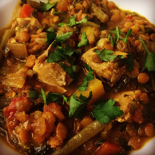 Slow Cooker Pork and Lentil Curry.