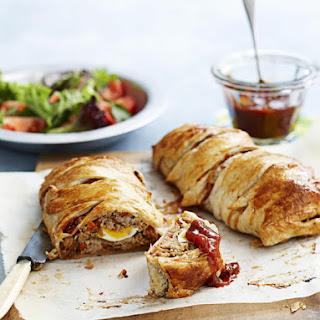 Pork and Chutney Pastry Rolls.