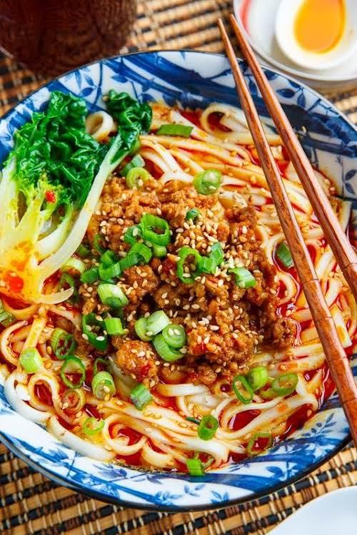 Dandan Noodles (Tantanmen Ramen) Noodles (particularly soba noodles) are meant to symbolize...