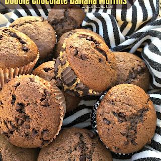 Double Chocolate Banana Muffins.