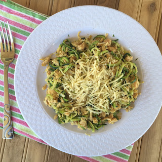 Italian Zoodles with Chicken & Parmesan