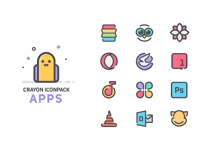 Crayon Icon Pack [Paid] v1.5 4