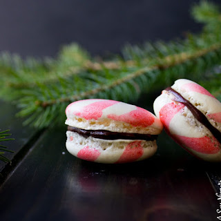 Peppermint Macarons with Chocolate Ganache