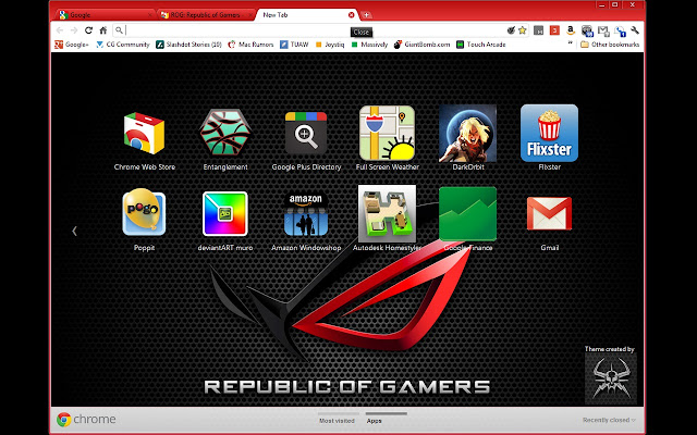 Overview Republic Of Gamers Theme For
