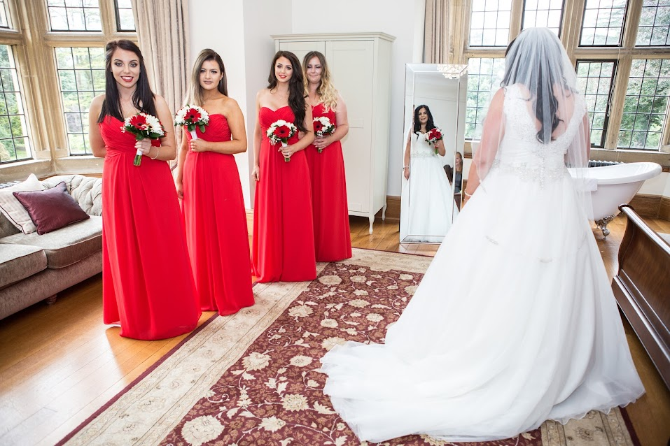 bridesmaids mirror refelection