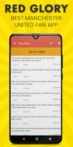 Red Glory - Manchester United Fan App by The Fans 5.1.0 screenshots 2