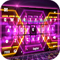 Neon Hexagon Live Keyboard Background icon