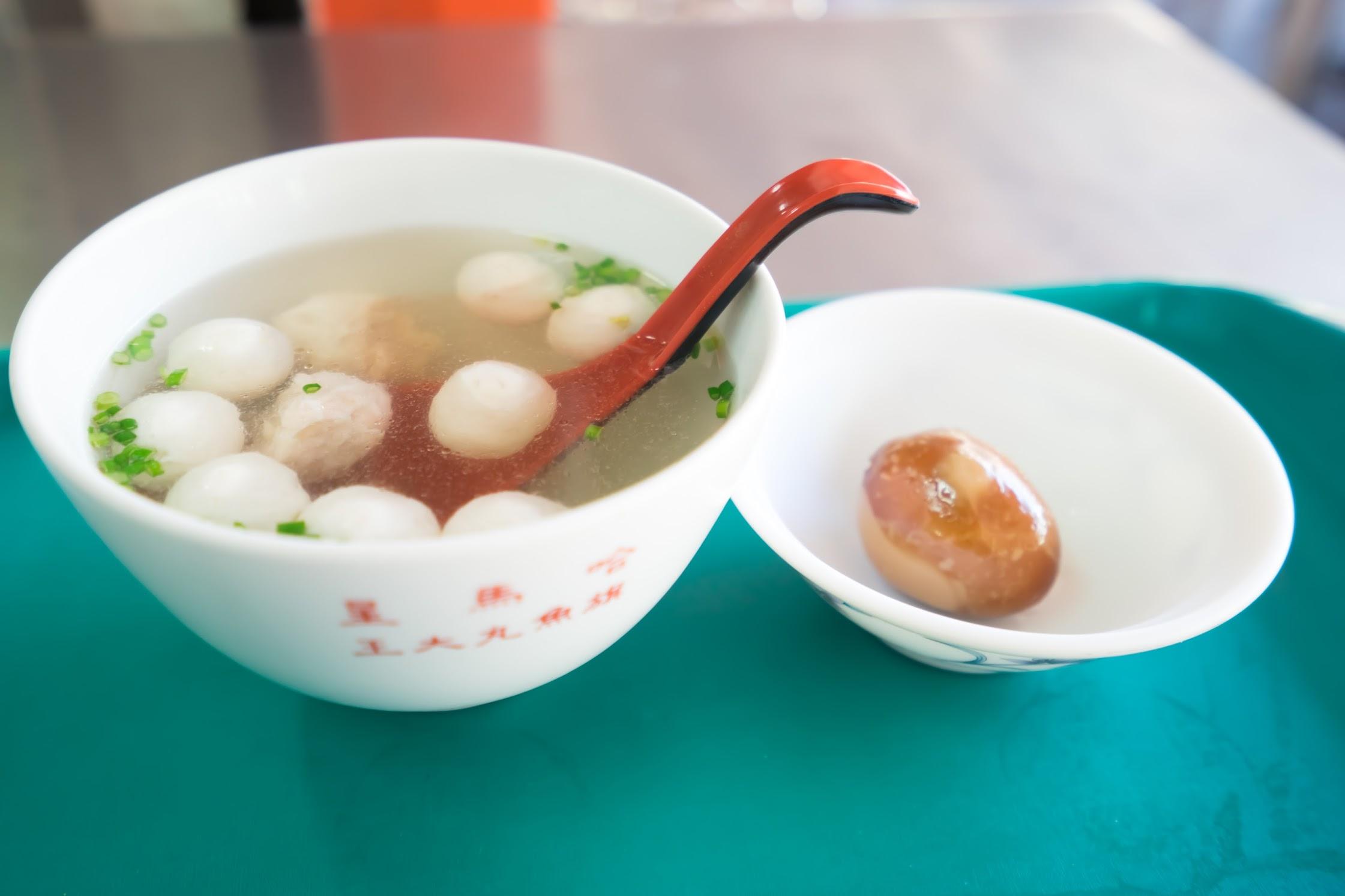 高雄 哈瑪星黑旗魚丸大王 綜合魚丸湯
