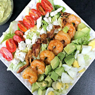 Spicy Shrimp Cobb Salad & Avocado Vinaigrette + {Giveaway}