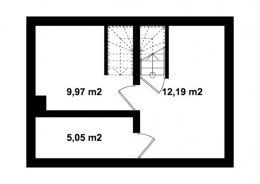 G320 - Budynek rekreacji indywidualnej - Rzut piwnicy