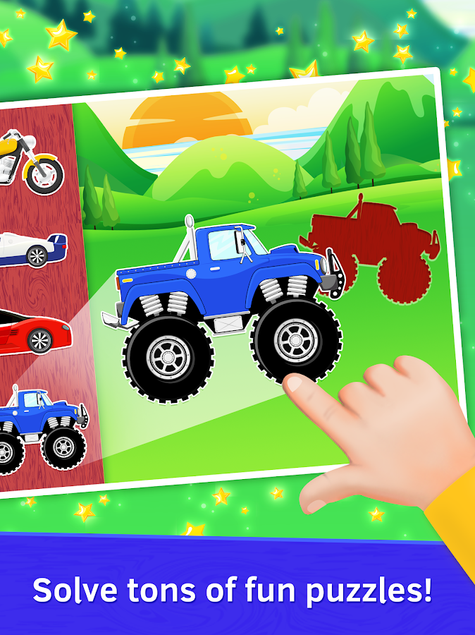baby car puzzles for kids free screenshot