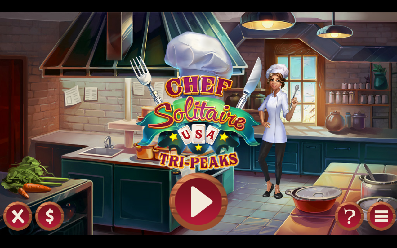 Chef Solitaire: USA TriPeaks- screenshot
