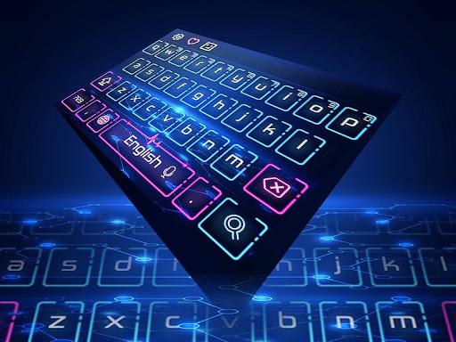 Neon Keyboard Theme 10001005 screenshots 3