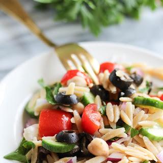 Vegan Mediterranean Orzo Salad Recipe