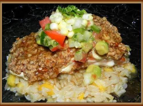 "Nutty Crusted Salmon w/Coconut Rum Sauce ""This salmon is better than I've..."