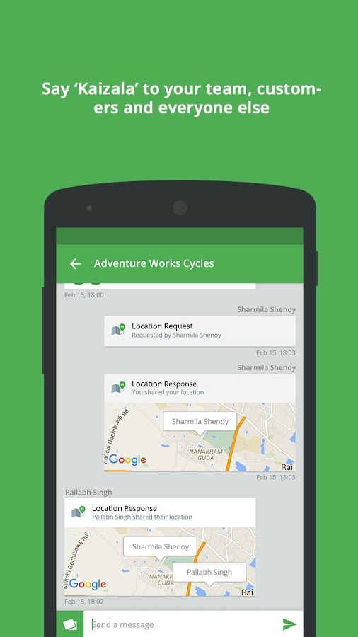 kaizala   chat act do   android apps on google play
