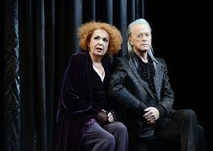 Photo: WIEN/ Theater in der Josefstadt: QUARTETT von Heiner Müller, Premiere 6.2.2014, Inszenierung: Hans Neuenfels. Helmut Lohner, Elisabeth Trissenaar. Foto: Barbara Zeininger.