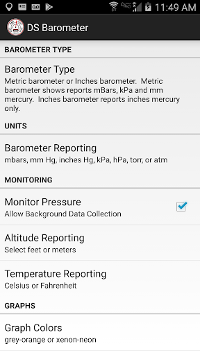 DS Barometer - Altimeter and Weather Information  screenshots 7