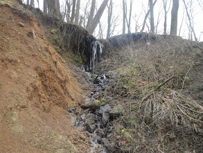Photo: Malý vodopád (13.1. 2014).