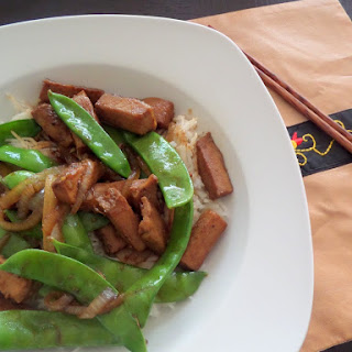 Pork and Peas Stir Fry