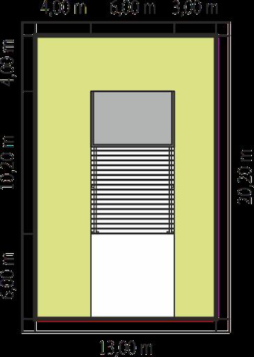 Budynek gospodarczy G41 z wiatą - Sytuacja