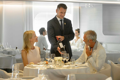 Ponant-Lyrial-wine.jpg - The sommelier on Ponant's Le Lyrial can offer suggestions for the perfect wine to accompany your meals.