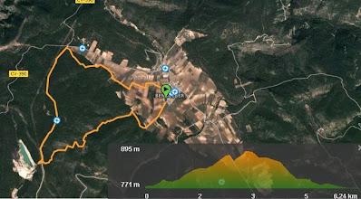 Photo: 6,5 kms de buenas vistas... Mapa de la ruta (wikiloc) con desniveles