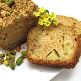 Nectarine and Pistachio Cake.