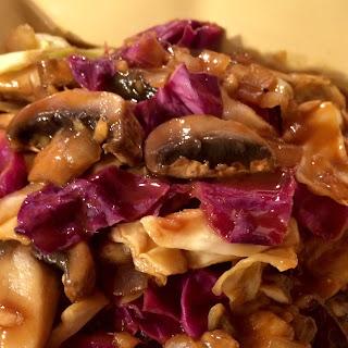 Vegan Gingered Cabbage & Mushroom Stir Fry.