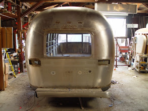 Photo: The trailer is now ready for me to start stripping all of the clear coat finish from the skin