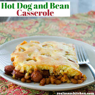 Hot Dog and Bean Casserole.