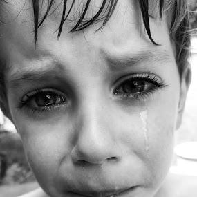 Sad Boy by Lauren DeJarnatt Yoder - Babies & Children Children Candids ( sad, crying, boy, tears,  )