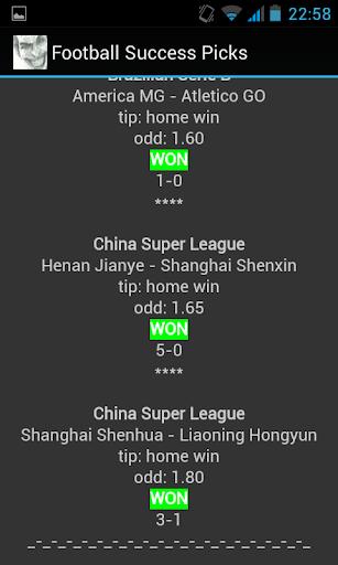 Football Success Picks
