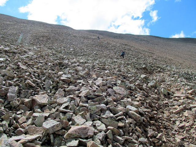 Climbing the talus