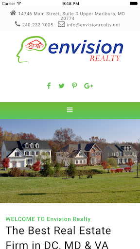 Envision Realty DMV Search Screenshot