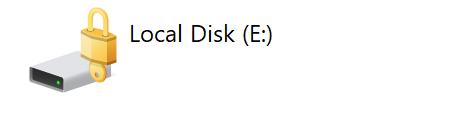 Locked padlock: BitLocker enabled and locked state
