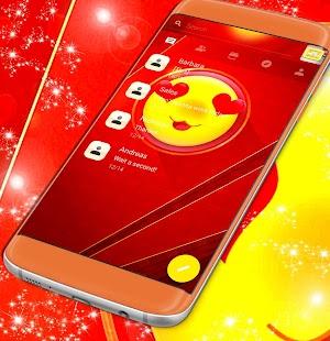 Emoji 2017 Red Sms Theme - náhled