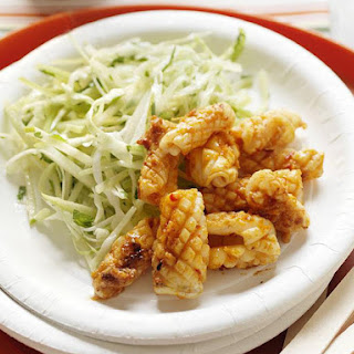 Ginger Squid with Apple & Celery Coleslaw