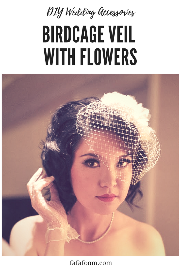DIY Wedding Birdcage Veil with Flowers - DIY Fashion Accessories | fafafoom.com