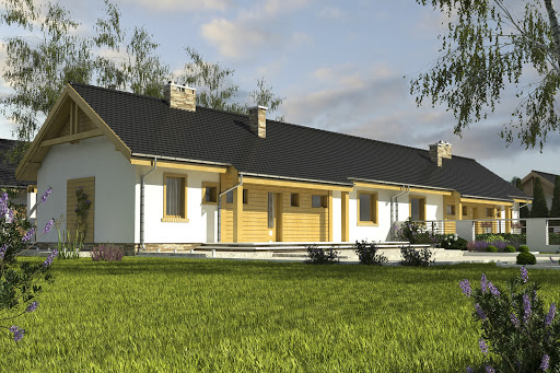 projekt Raniuszek bez garażu bliźniak B-BL2 na paliwo stałe
