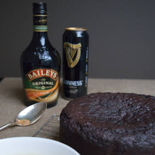 Chocolate Guinness cake with Baileys icing, how Irish.