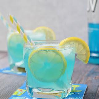 Blue Lemonade Cocktail.